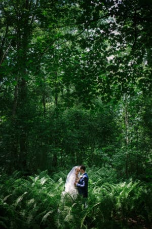 wedding photo forest